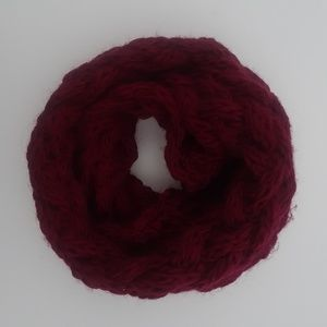 NWOT Red Knit Infinity Scarf